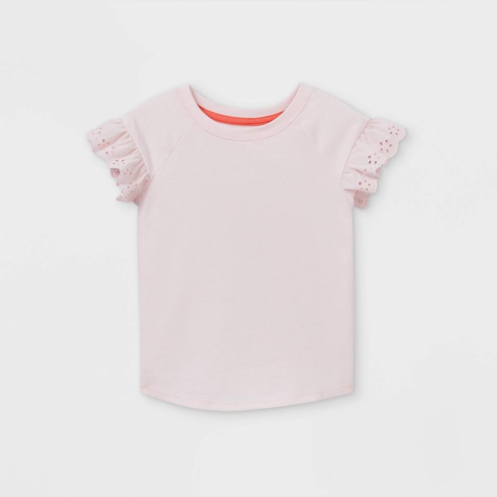 Toddler Girls 39 Eyelet Short Sleeve T Shirt Cat 38 Jack 8482 Pink 3t