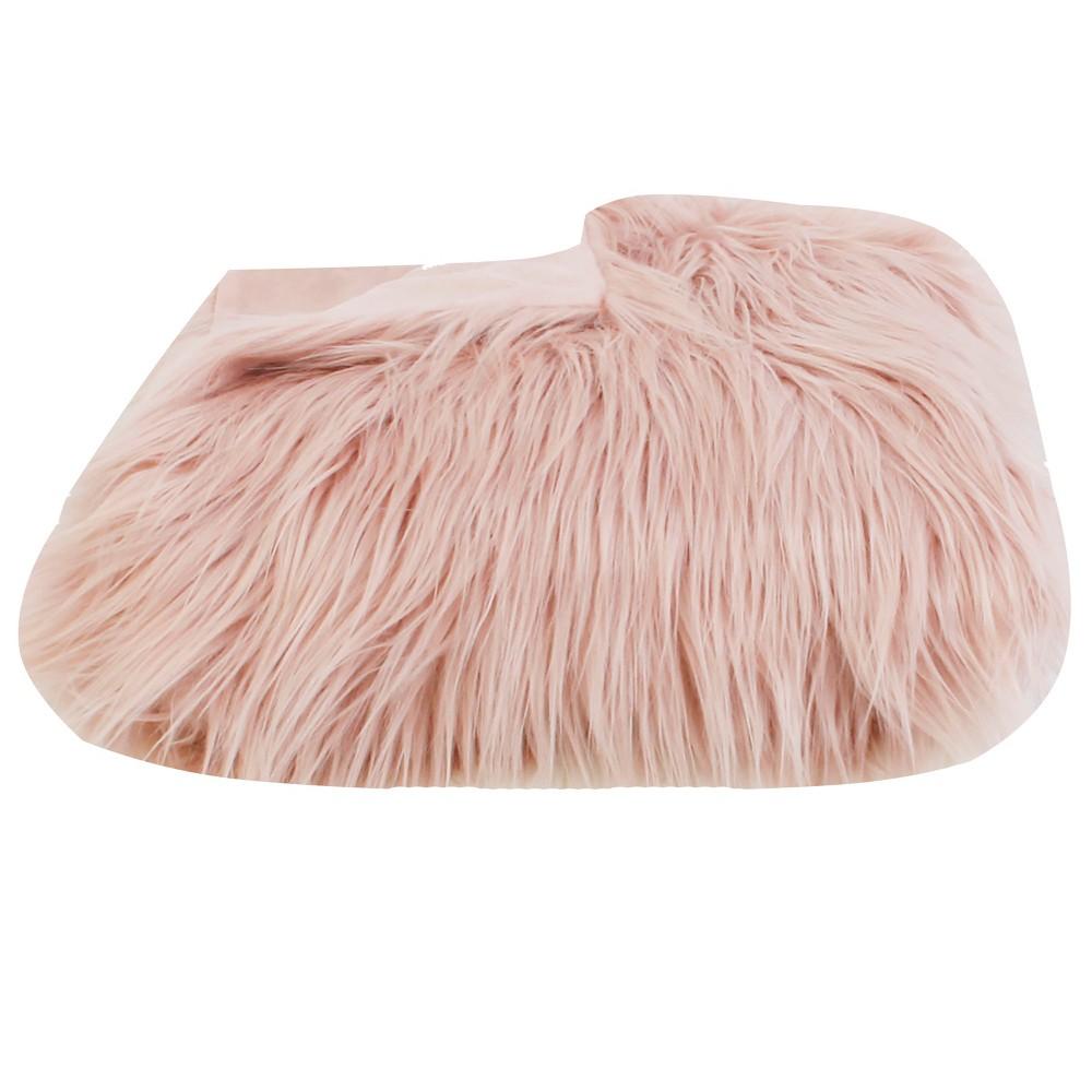 Image of Kari Keller Throw Blanket Rose Smoke - Décor Therapy, Pink