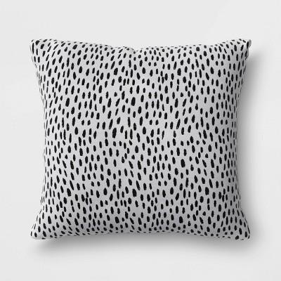 Dots Oversize Woven Outdoor Throw Pillow DuraSeason Fabric™ Black - Opalhouse™
