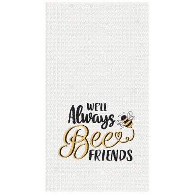 C&F Home Always Bee Friends Embroidered Cotton Kitchen Towel
