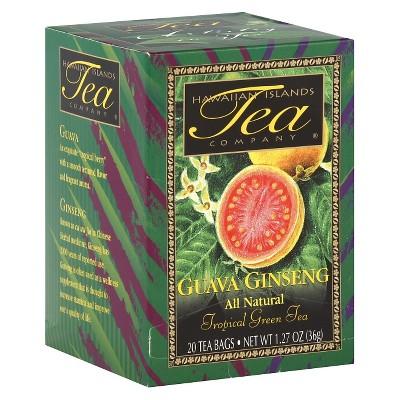 Hawaiian Islands Tea Company Guava Ginseng Tea - 20ct