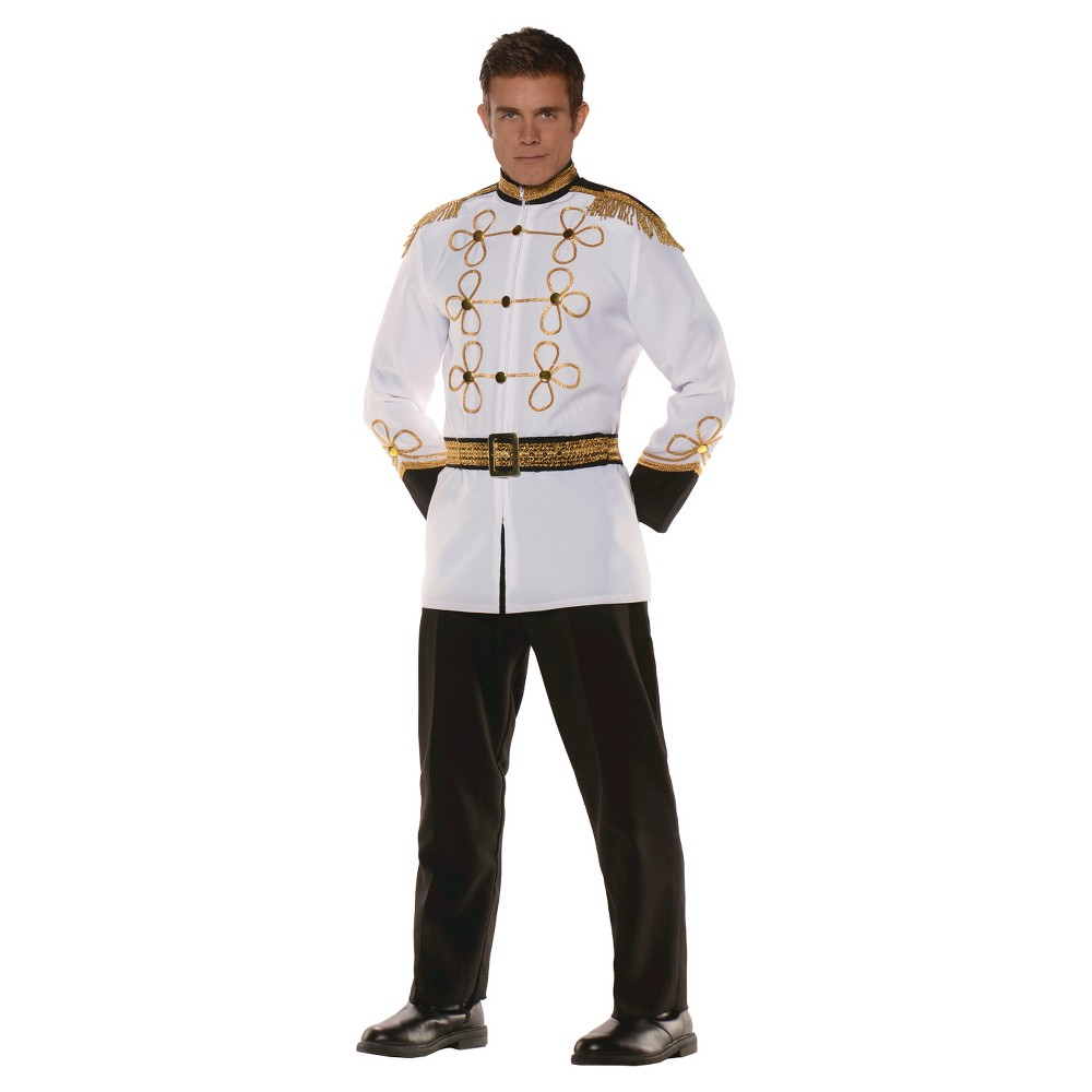 Men's Prince Charming Adult Costume, White