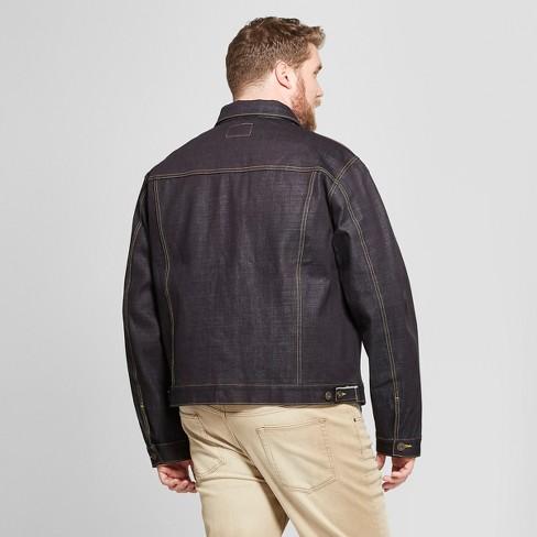e07862ebcb3 Men s Big   Tall Selvedge Denim Jacket - Goodfellow   Co™ Raw Indigo 4XBT    Target