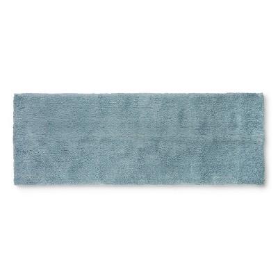 60 x22  Tufted Spa Bath Runner Aqua - Fieldcrest®