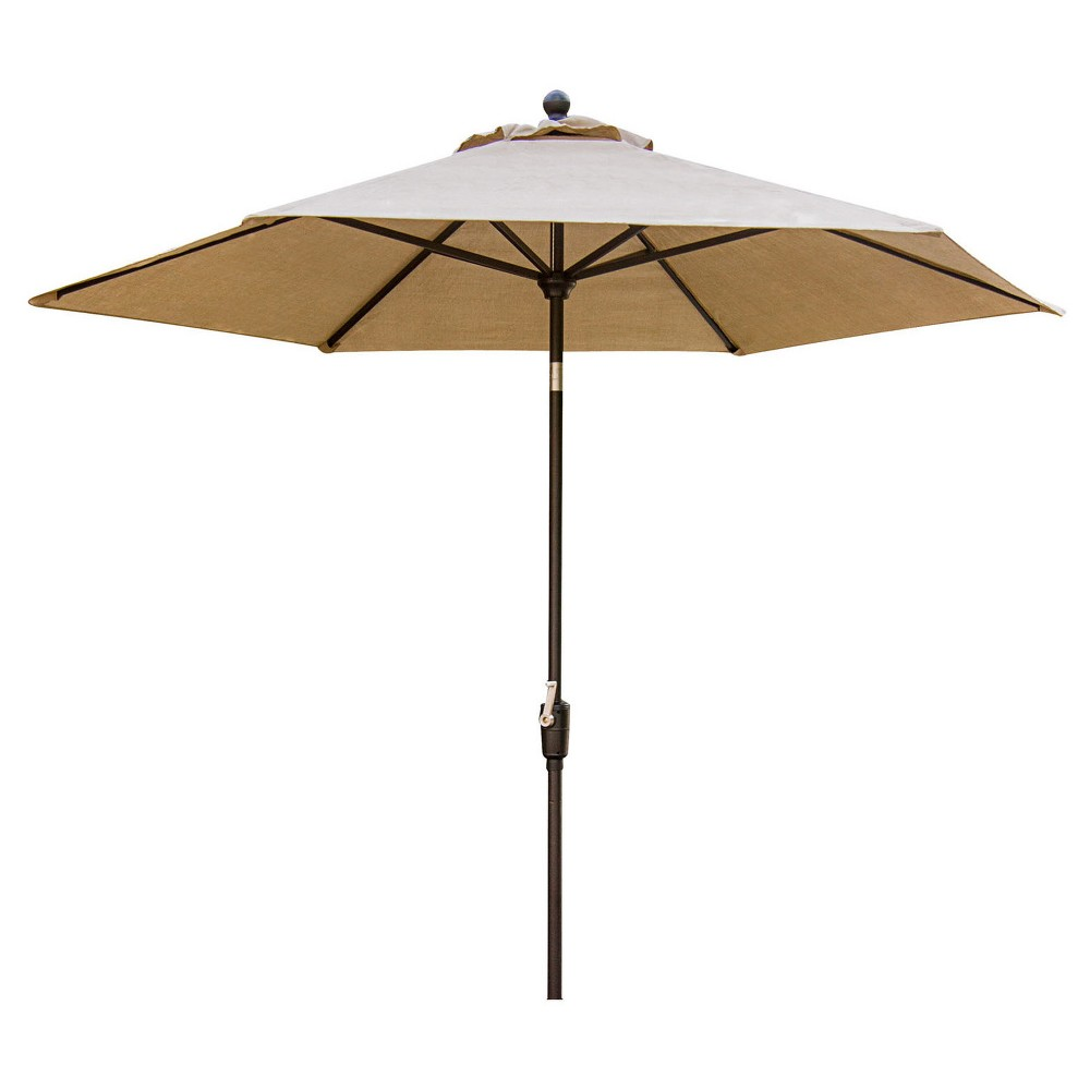 Image of Concord Outdoor Dining Collection 9' Table Umbrella - Tan - Hanover