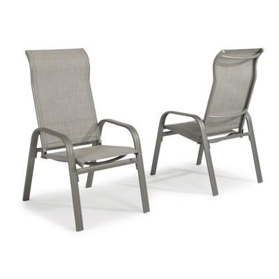 Daytona 2pk Outdoor Arm Chair - Dark Gray - Home Styles