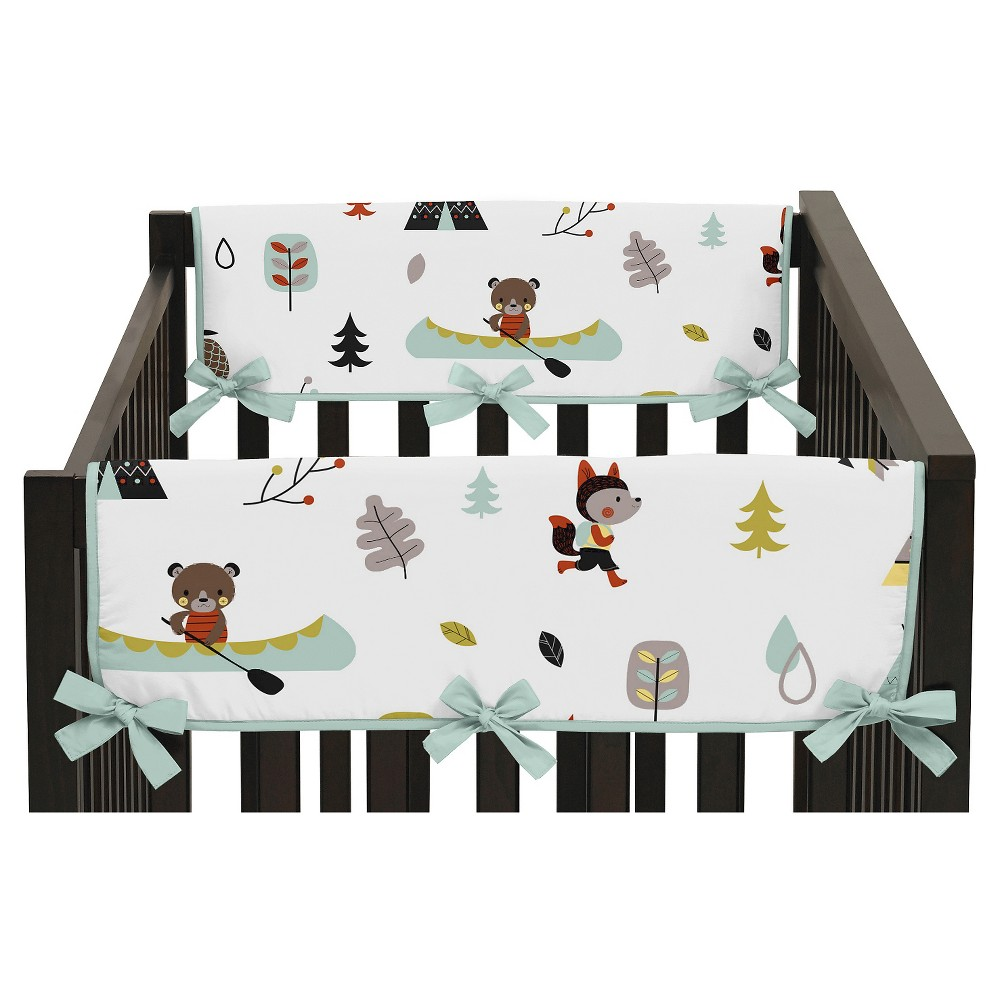 Sweet Jojo Designs Outdoor Adventure Side Crib Rail Guard Covers (Set of 2) - Aqua