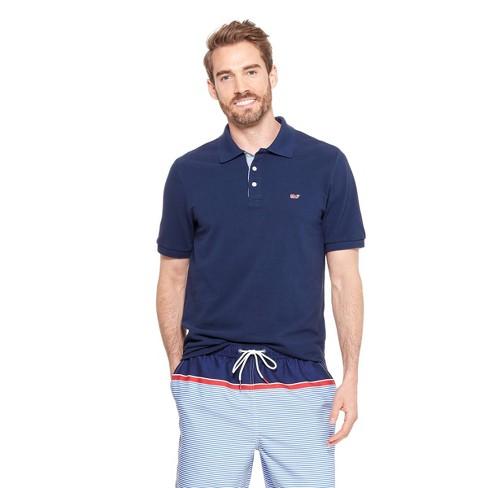7eb8660178c5 Men s Short Sleeve Polo Shirt - Navy - Vineyard Vines® For Target   Target