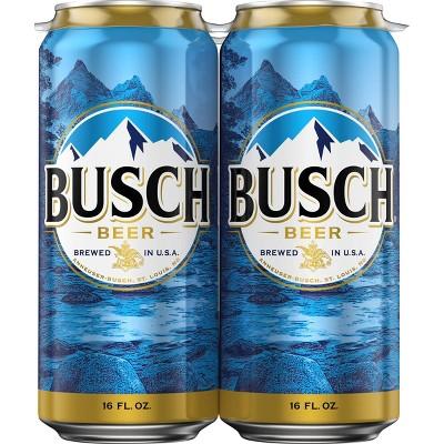 Busch Beer - 4pk/16 fl oz Cans