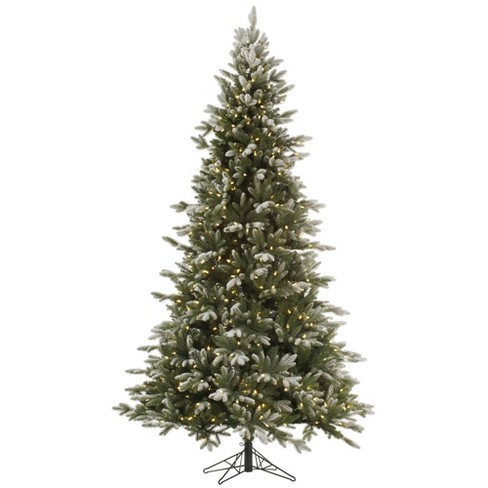 9ft Pre-Lit Artificial Christmas Tree Full Frosted Balsam Fir - with 1050 Warm White LED Lights - image 1 of 2