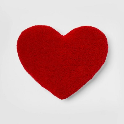 Oversized Heart Sherpa Pillow Red - Room Essentials™