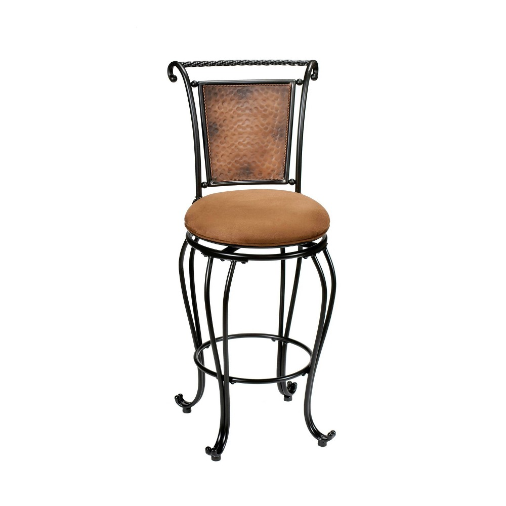 """Milan 30"""" Barstool Black/buckskin Hillsdale Furniture"""