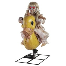 Rocking Ducky Doll Animated Halloween Decorative Holiday Scene Prop