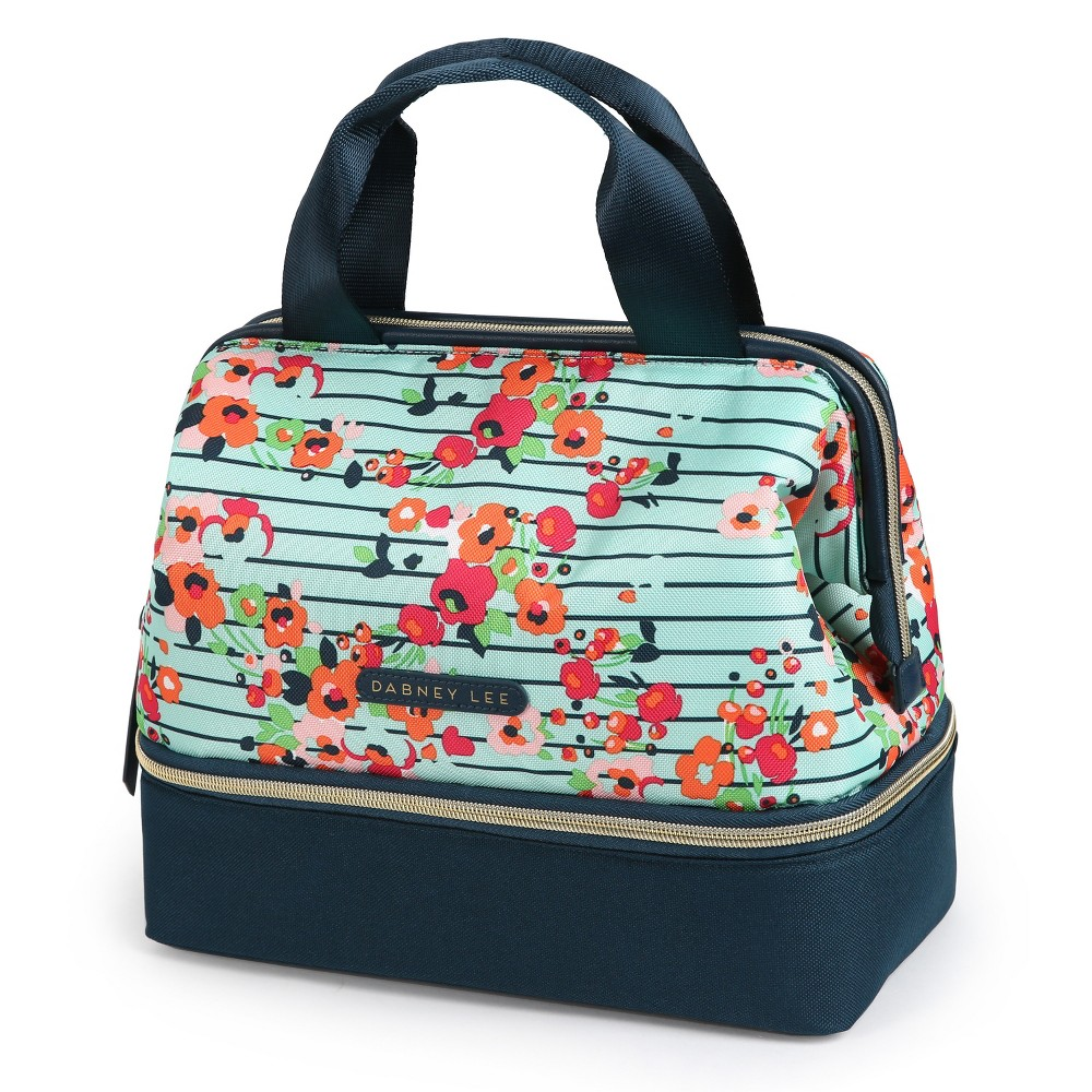 Image of Dabney Lee Katie Mini Lunch Satchel - Summer Bloom, Turquoise