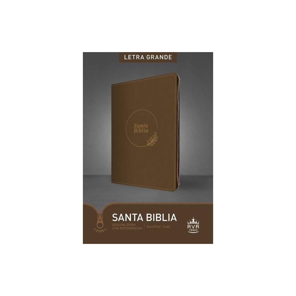 Santa Biblia Rvr60 Edici N Z Per Con Referencias Letra Grande Letra Roja Sentipiel Caf Large Print By Tyndale Bible Leather Bound