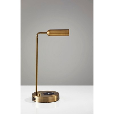 Wireless Charging Table Lamp Antique Brass (Includes Energy Efficient Light  Bulb)   Adesso