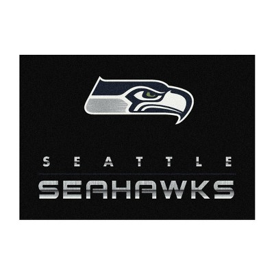 NFL Seattle Seahawks 4'x6' Chrome Rug