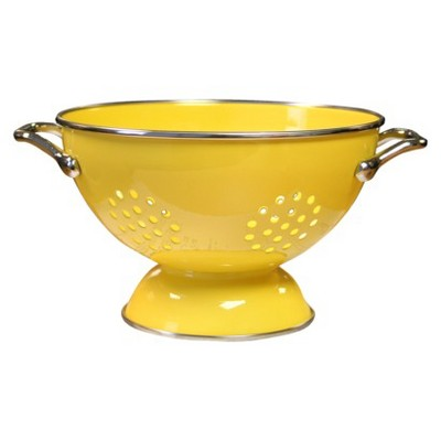 Enamel/ Stainless Steel Colander - Lemon (1.5-qt.)