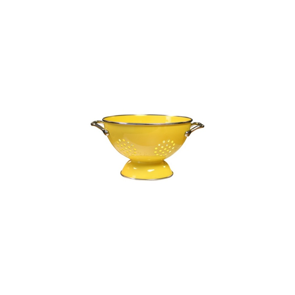Image of Enamel/ Stainless Steel Colander - Lemon (1.5-qt.)
