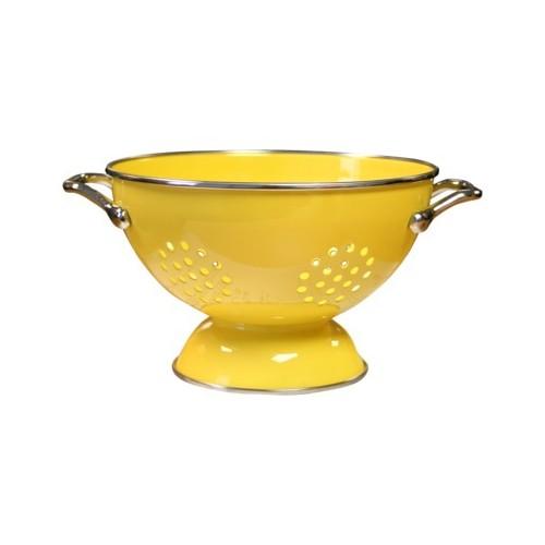 Enamel/ Stainless Steel Colander - Lemon (1.5-qt.), Yellow