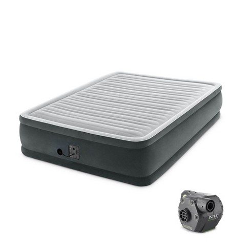 Intex Dura Beam Elevated Mattress Airbed w/ Built In Pump, Queen & Cordless Pump - image 1 of 4