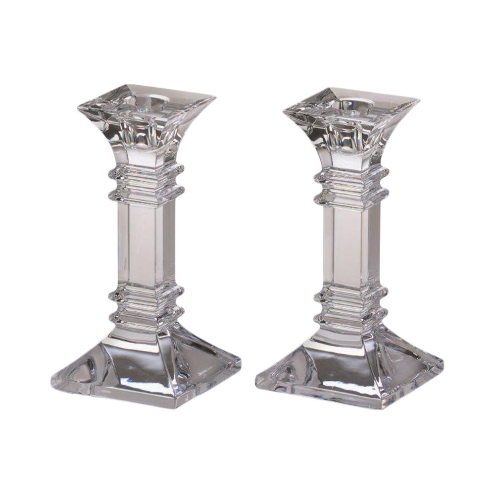 Image of 2pc Treviso Candlesticks 6 - Marquis By Waterford, Light Clear
