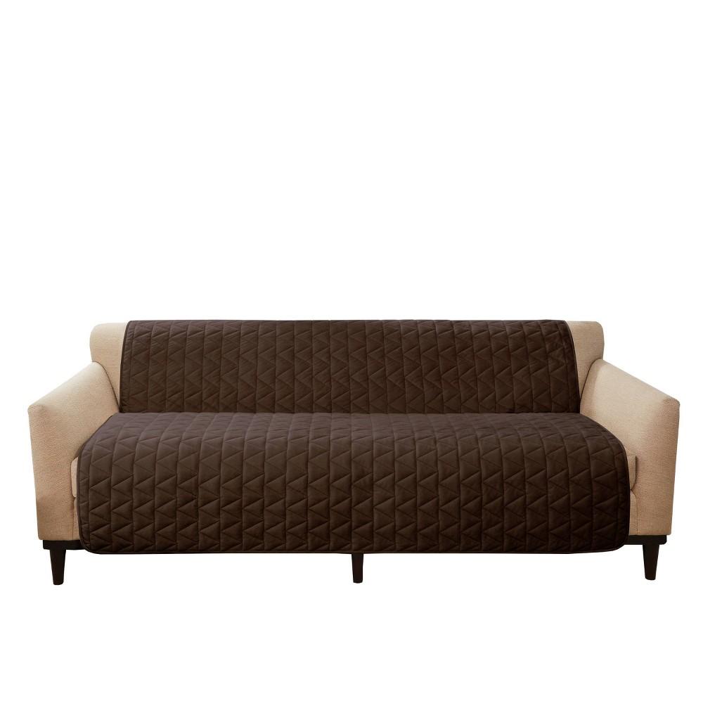 Armless Sofa Furniture Protector Chocolate Sure Fit