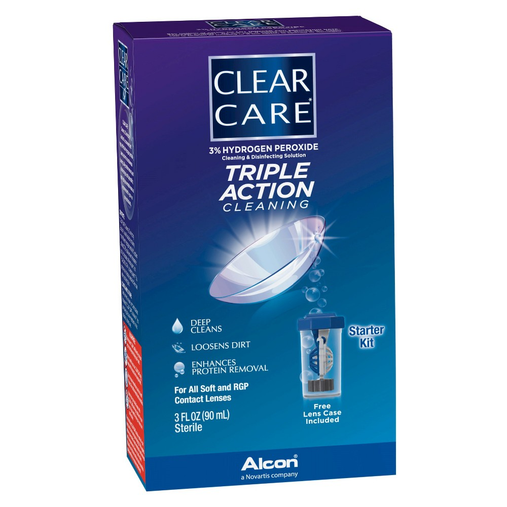 Clear Care Triple Action Cleaning Contact Travel Pack Clear Care Triple Action Cleaning Contact Travel Pack Size: 90 ml. Age Group: Adult.