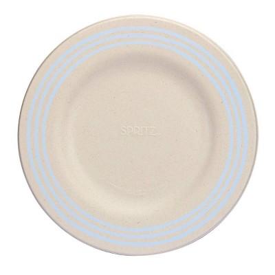 15ct Sugarcane Dinner Plates Compostable Dinnerware Blue - Spritz™