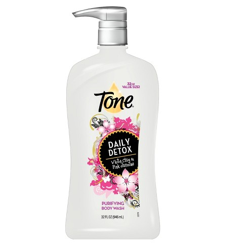 Tone Daily Detox White Clay and Pink Jasmine Purifying Body Wash - 32oz - image 1 of 1