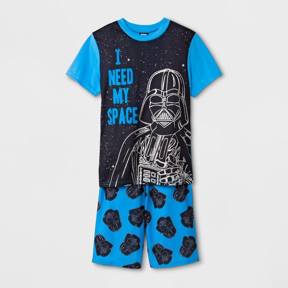 Boys' Star Wars Darth Vader 2pc Pajama Set - Blue L