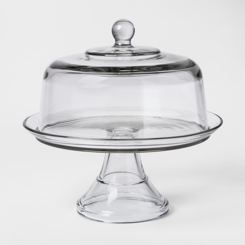 Image of Classic Glass Cake Stand with Dome - Threshold