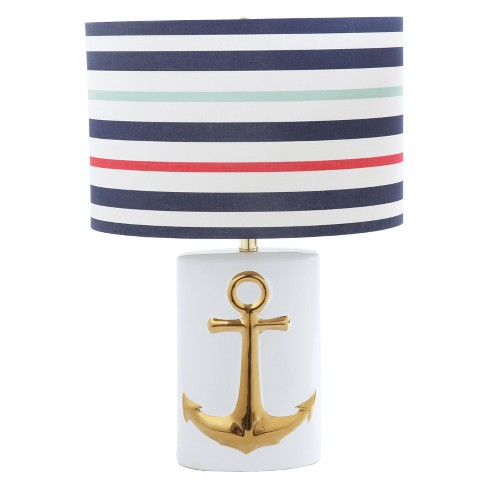 "Ceramic Table Lamp with Gold Anchor 24.5""H (Lamp Only) - 3R Studios - image 1 of 2"