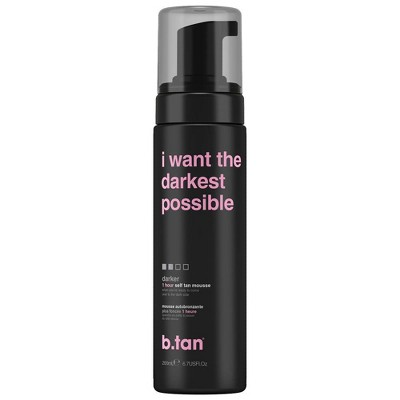 b.tan I Want The Darkest Tan Possible Self Tan Mousse - 6.7 fl oz
