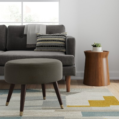 Farwell Oval Ottoman With Gold Caps   Project 62™ : Target