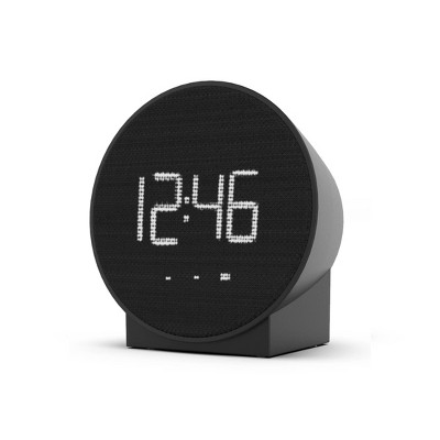 Small Round Alarm Table Clock Black - Capello