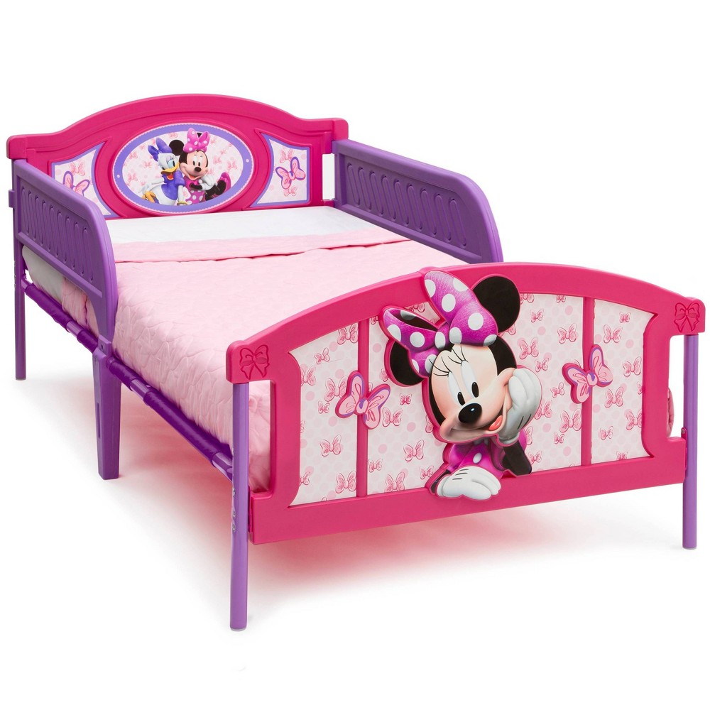 Image of Twin Disney Minnie Mouse Plastic 3D Bed - Delta Children