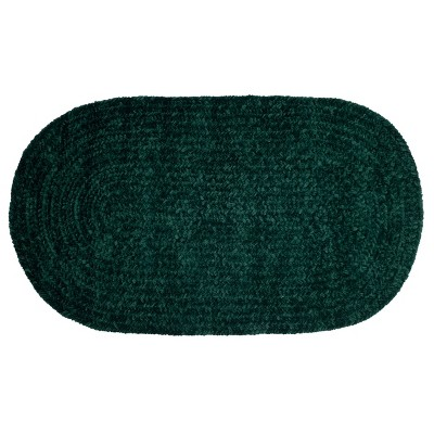 Chenille Solid Collection 100% Polyester Reversible Indoor Area Utility Oval Rug - Better Trends