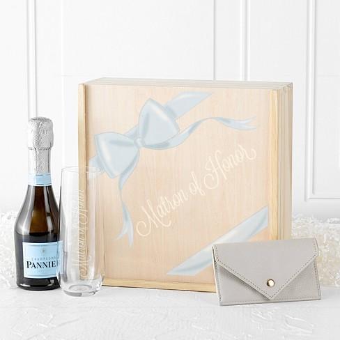 Ribbon Matron Of Honor Gift Box Wood Cathy S Concepts