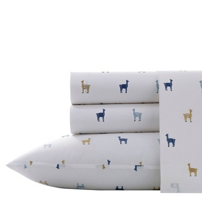 Printed Pattern Percale Cotton Sheet Set - Poppy & Fritz