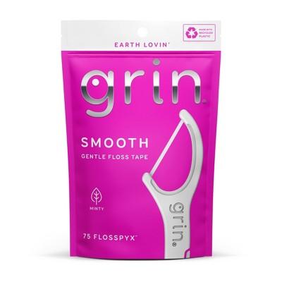 Grin SmoothDental Floss Picks - Minty - 75ct