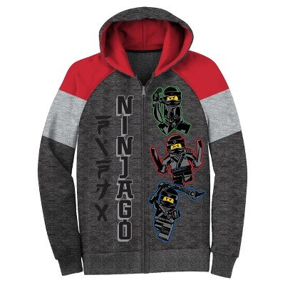 dd5be59cb LEGO® Boys Ninjago Fleece Jacket Hoodie – Charcoal Heather L ...