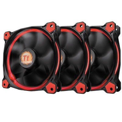 Thermaltake Riing 12 LED 120mm Case Fan - Three Pack