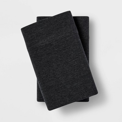 Standard Tencel Jersey Blend Pillowcase Set Charcoal - Project 62™ + Nate Berkus™