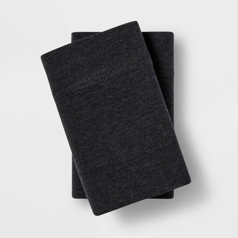 Standard Tencel Jersey Blend Pillowcase Set Charcoal (Grey) - Project 62 + Nate Berkus