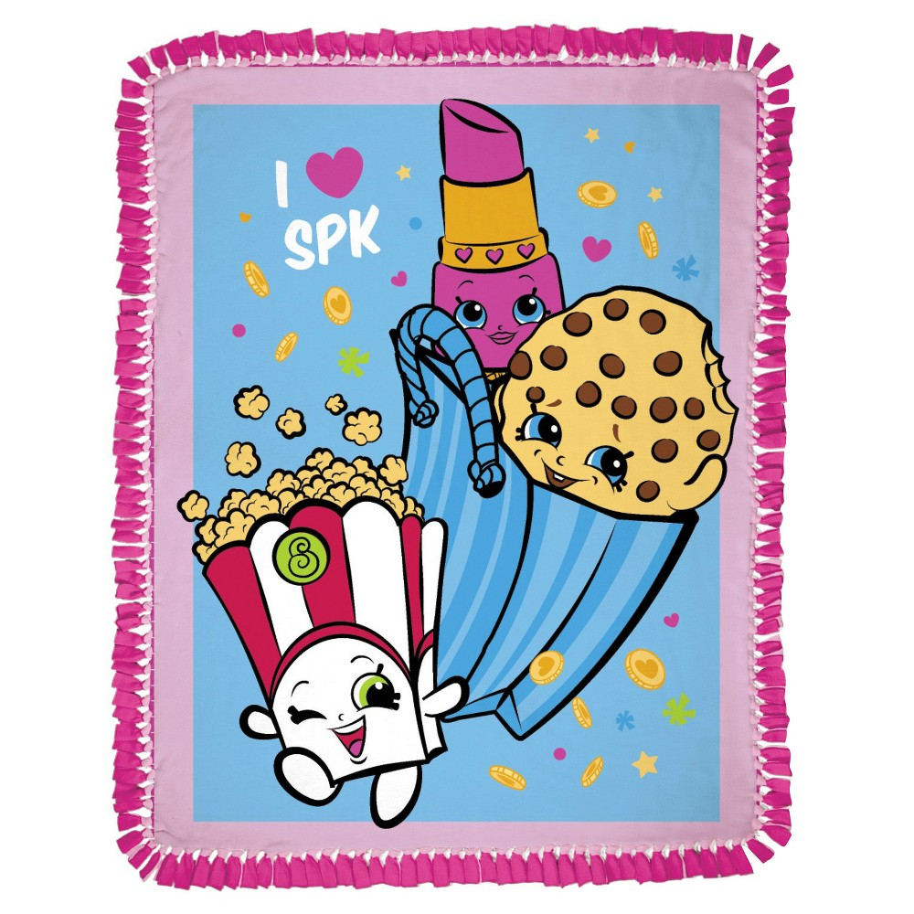 Image of Shopkins Party No Sew Fleece Throw Kit, Pink