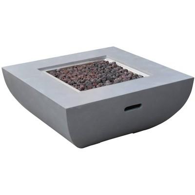 "Westport 34"" Outdoor Fire Pit Propane Table Backyard Patio Heater - Elementi"