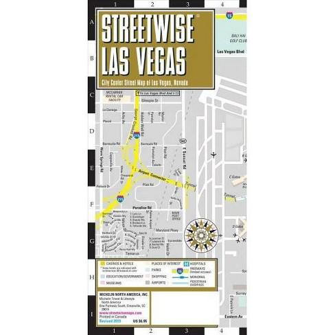 Michelin Streetwise Las Vegas : City Center Map Of Las Vegas, Nevada ...