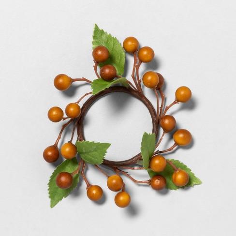4pk Orange Berry Napkin Ring - Hearth & Hand™ with Magnolia - image 1 of 2