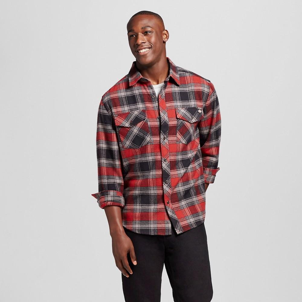 Dickies Men's Big & Tall Brawny Flannel Shirt Cinnamon 3XL, Size: Xxxl, Cinnamon Red